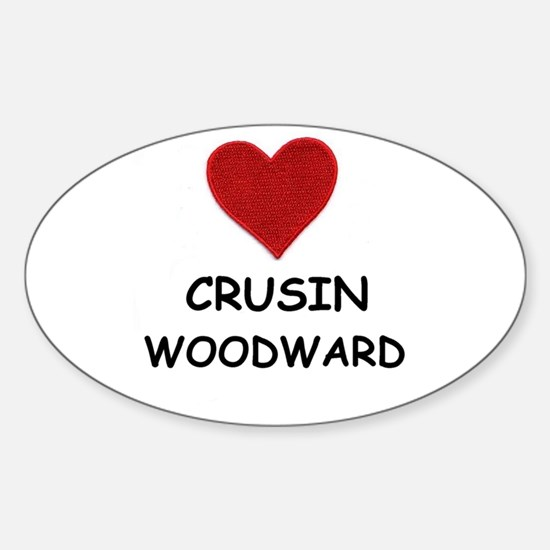 LOVE CRUSIN WOODWARD Oval Decal