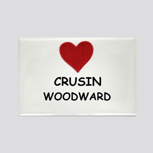 LOVE CRUSIN WOODWARD Rectangle Magnet