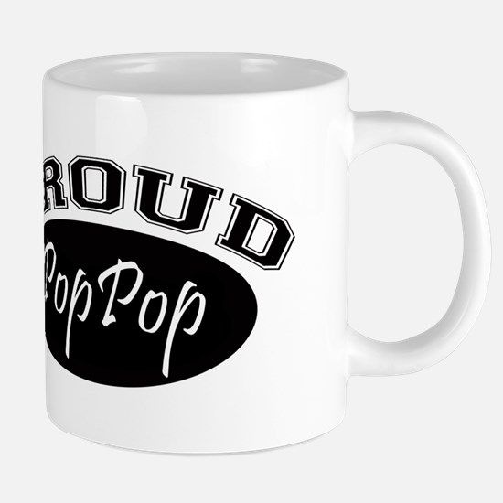 Proud PopPop (black) Mugs