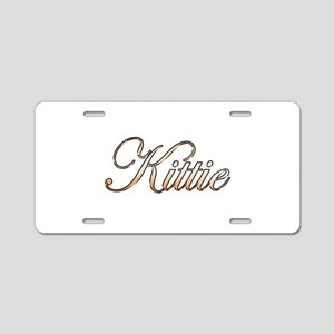 Gold Kittie Aluminum License Plate