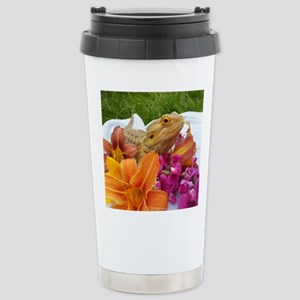 Floral beardie Stainless Steel Travel Mug