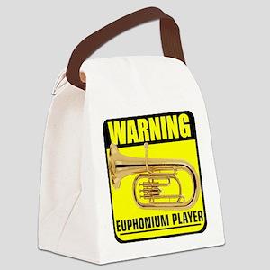 2-caution euphonium player Canvas Lunch Bag
