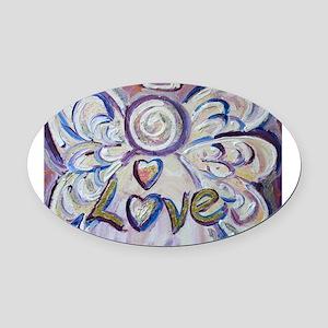 Love Angel Oval Car Magnet