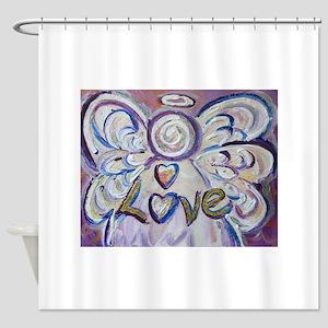 Love Angel Shower Curtain