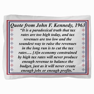 John F Kennedy Quote On Taxes Pillow Sham