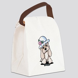 cocker in Canvas Lunch Bag