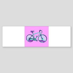 Bike Cycling Bicycle Pink Wondrous Bumper Sticker