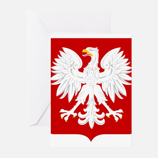 Arms of Poland Greeting Cards