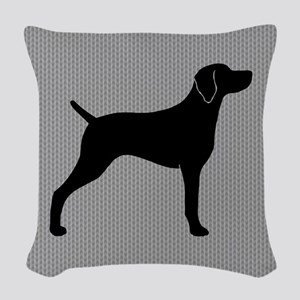 Weimaraner Woven Throw Pillow