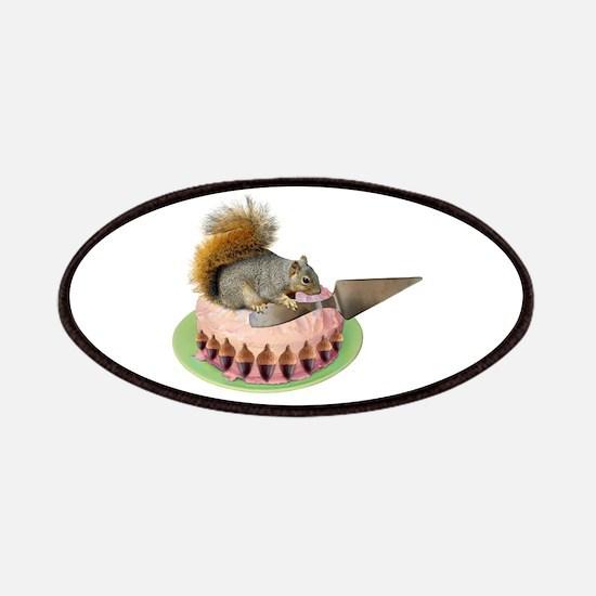 Squirrel Cutting Cake Patch