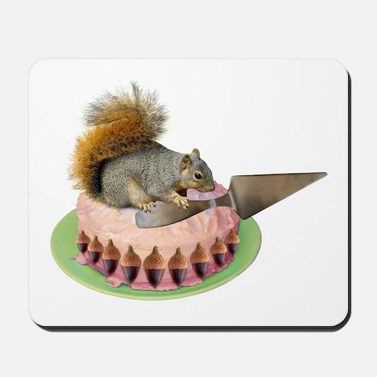 Squirrel Cutting Cake Mousepad