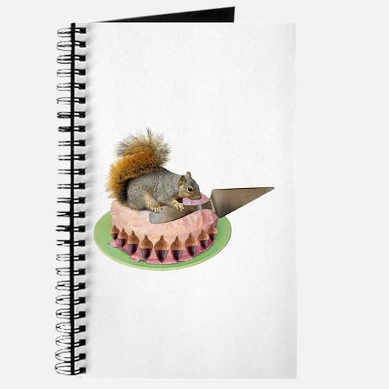Squirrel Cutting Cake Journal