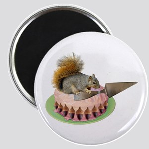 Squirrel Cutting Cake Magnet