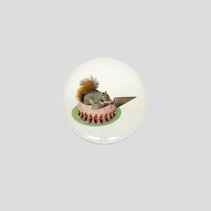 Squirrel Cutting Cake Mini Button