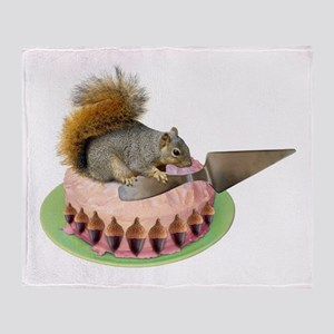Squirrel Cutting Cake Throw Blanket