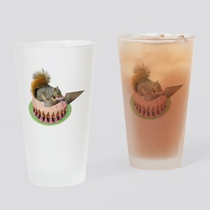 Squirrel Cutting Cake Drinking Glass
