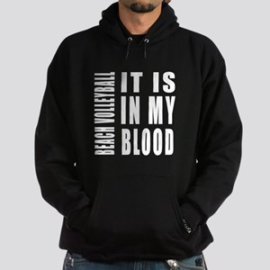 Beach Volleyball it is in my blood Hoodie (dark)