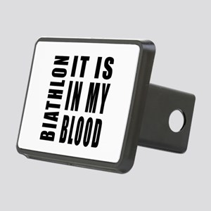 Biathlon it is in my blood Rectangular Hitch Cover