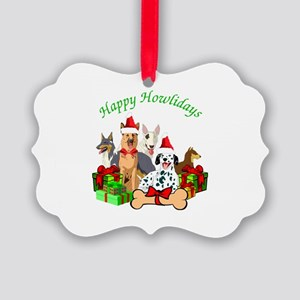 Howliday Dogs Picture Ornament