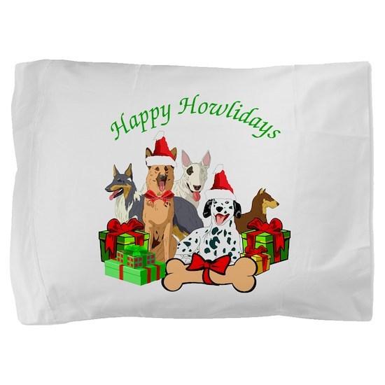 Howliday Dogs Pillow Sham