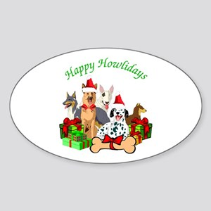 Howliday Dogs Sticker