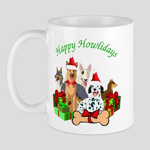 Howliday Dogs Mugs