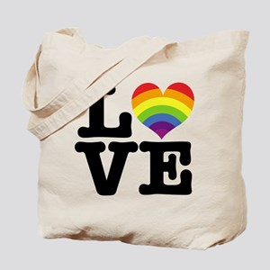 LOVE rainbow Tote Bag