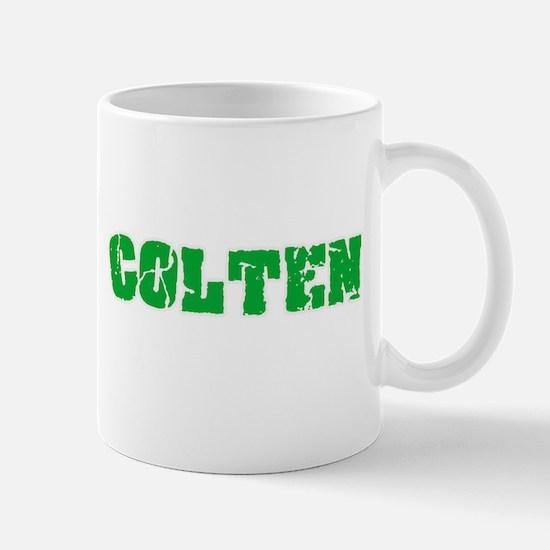 Colten Name Weathered Green Design Mugs
