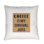 Coffee Is My Survival Juice Everyday Pillow