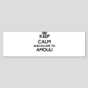 Keep calm and escape to Amouli Samo Bumper Sticker