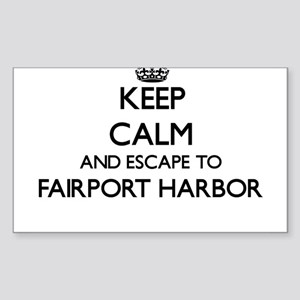 Keep calm and escape to Fairport Harbor Oh Sticker