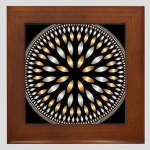 Hypnotic Circle Framed Tile