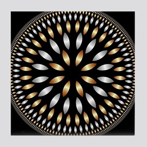 Hypnotic Circle Tile Coaster