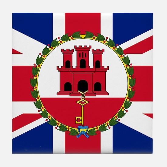 Gibraltar Governor Flag Tile Coaster