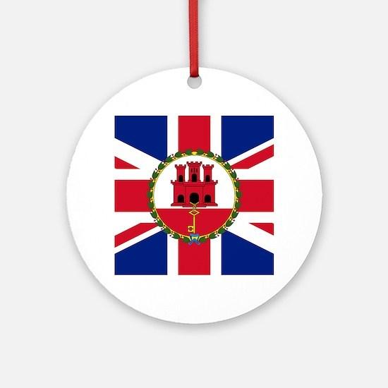 Gibraltar Governor Flag Ornament (Round)