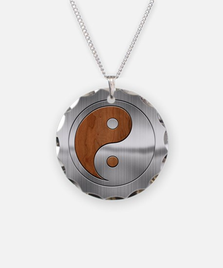 Wood Chrome Yang Necklace