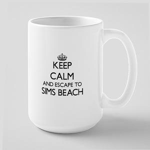 Keep calm and escape to Sims Beach Ohio Mugs