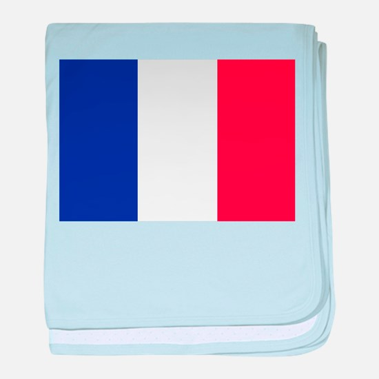 FRANCE FLAG baby blanket