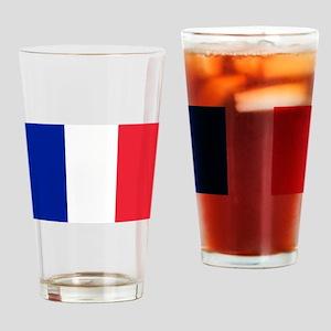 FRANCE FLAG Drinking Glass