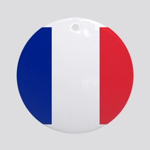 FRANCE FLAG Ornament (Round)