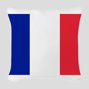FRANCE FLAG Woven Throw Pillow