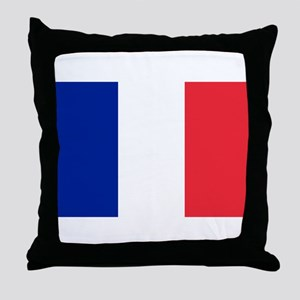 FRANCE FLAG Throw Pillow