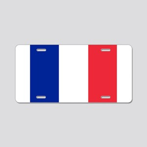 FRANCE FLAG Aluminum License Plate