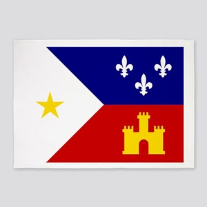 Acadiana Flag Louisiana 5'x7'Area Rug
