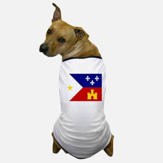 Acadiana Flag Louisiana Dog T-Shirt