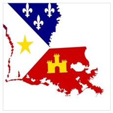 Acadiana State of Louisiana Poster