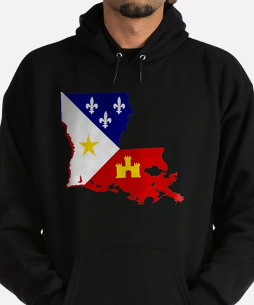 Acadiana State of Louisiana Hoodie (dark)