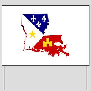 Acadiana State of Louisiana Yard Sign