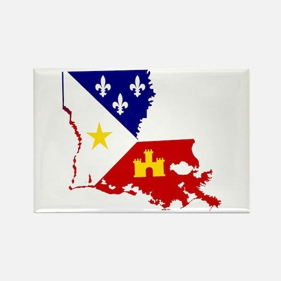 Acadiana State of Louisiana Magnets