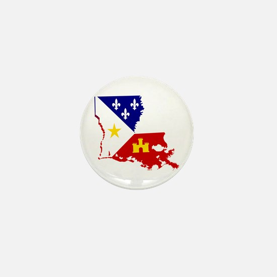 Acadiana State of Louisiana Mini Button